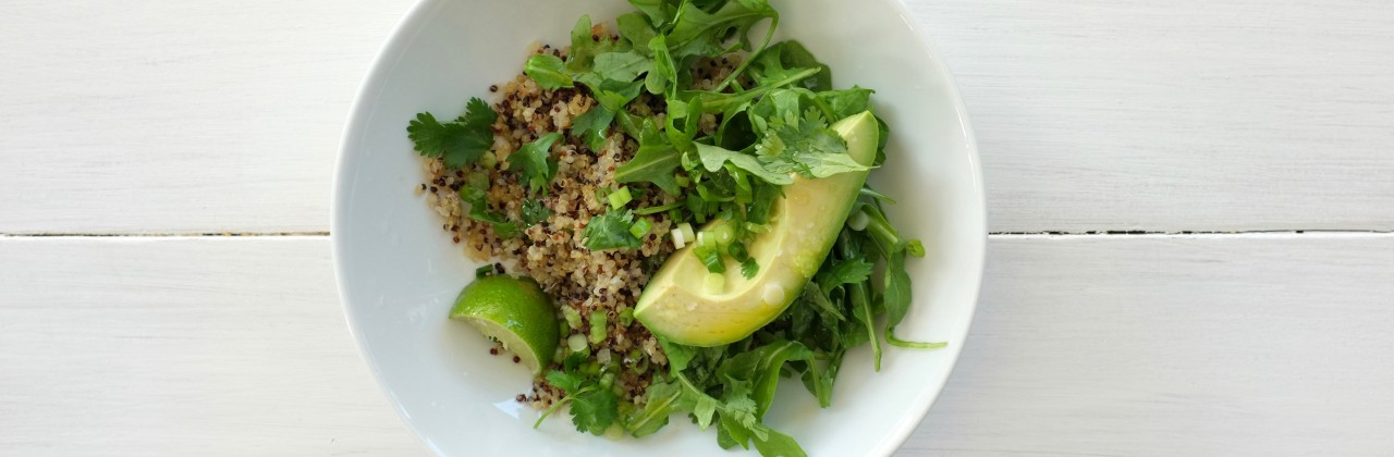Gingery Quinoa with Avocado and Lime