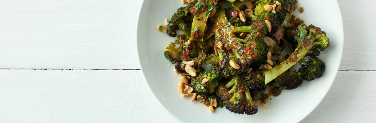 Charred Broccoli with Chile-Lime Vinaigrette