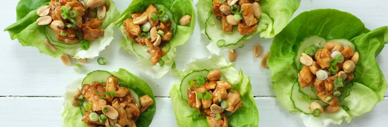 Kung Pao Chicken Lettuce Cups