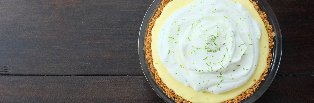 Key Lime Pie with Graham Cracker-Coconut Crust
