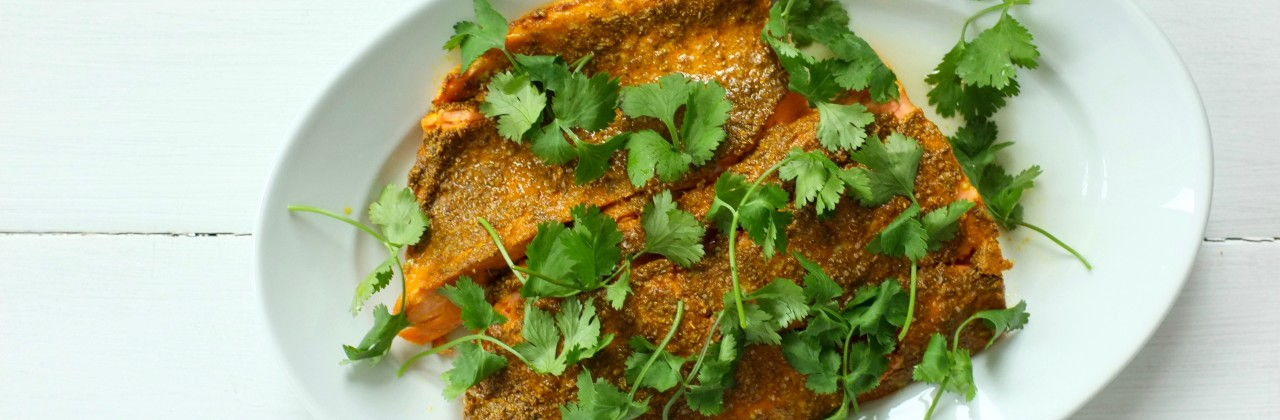 Slow-Roasted Indian-Spiced Salmon