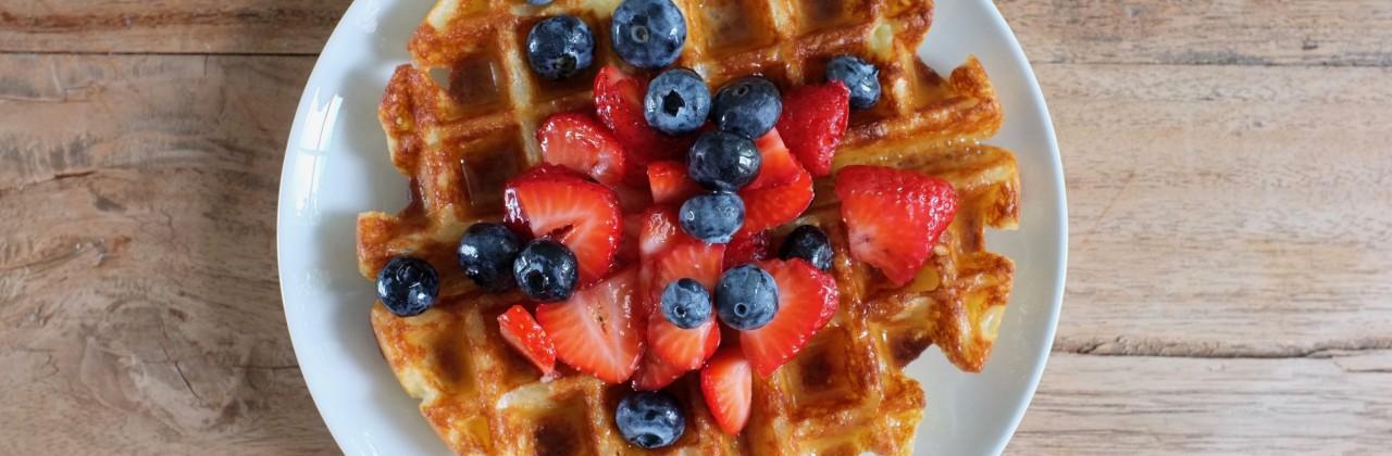 Crispy Cream Waffles