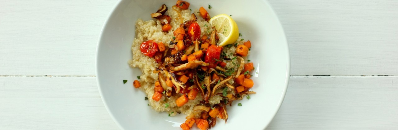 Sweet Potato Hash and Creamy Quinoa