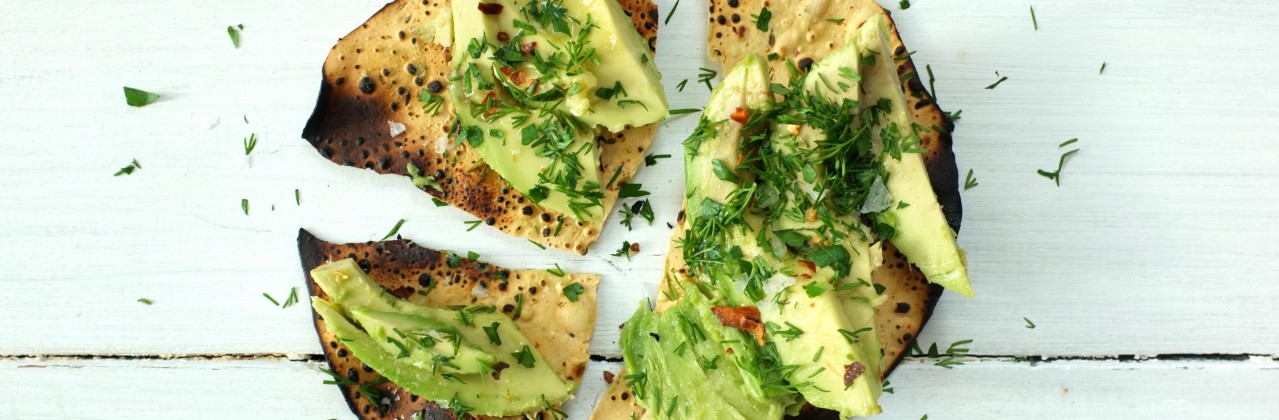 Crispy Papadums with Avocado
