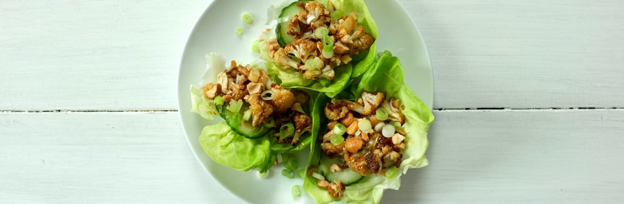 Kung Pao Cauliflower Lettuce Cups