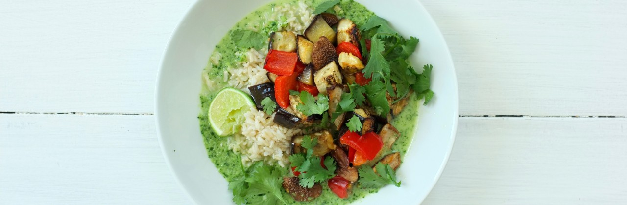 Green Curry with Roasted Vegetables