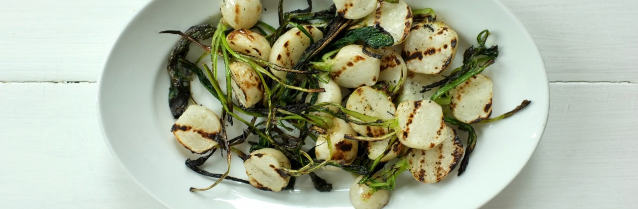 Grilled Baby Turnips