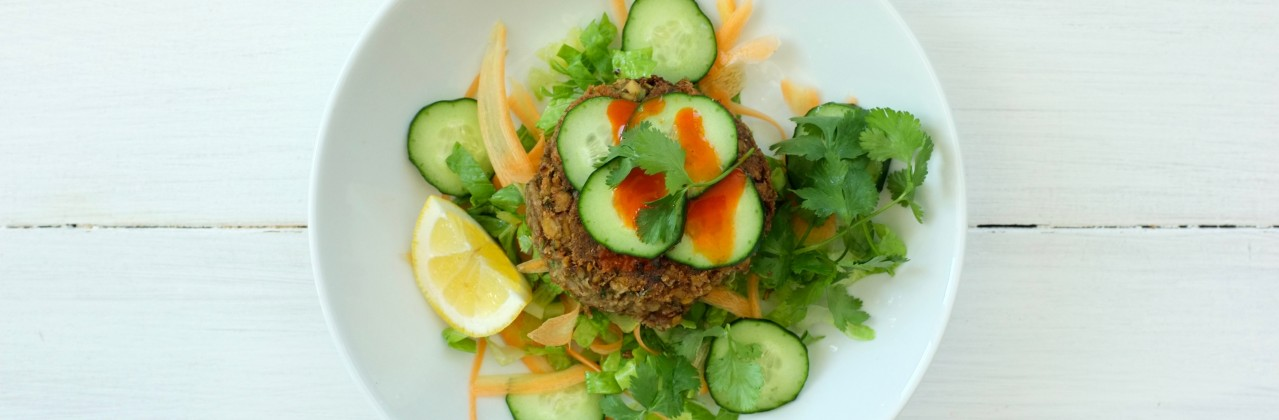 Indian Spiced Lentil Burgers